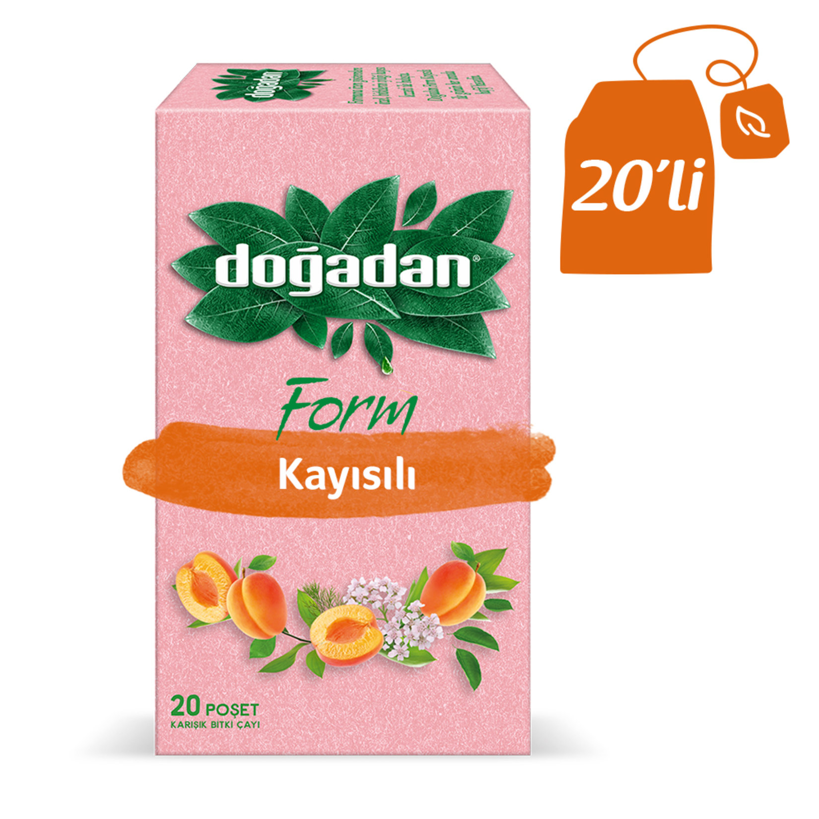 Doğadan - Apricot Tea 20 Bags in Box