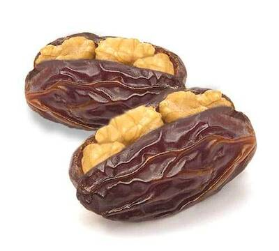 Dates inside Walnut