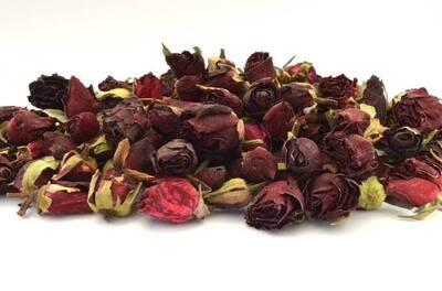 Dark Red Rose Buds