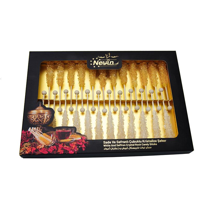 - Saffron Sugar and White Sugar Candy Stick 24 Pieces