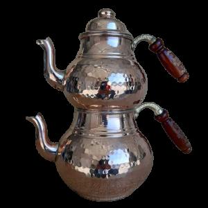 - Tea Pot Copper Brown Color