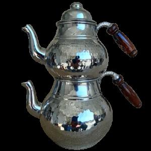 - Tea Pot Copper Silver Color